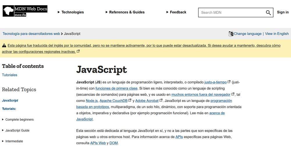 javascript programming languages