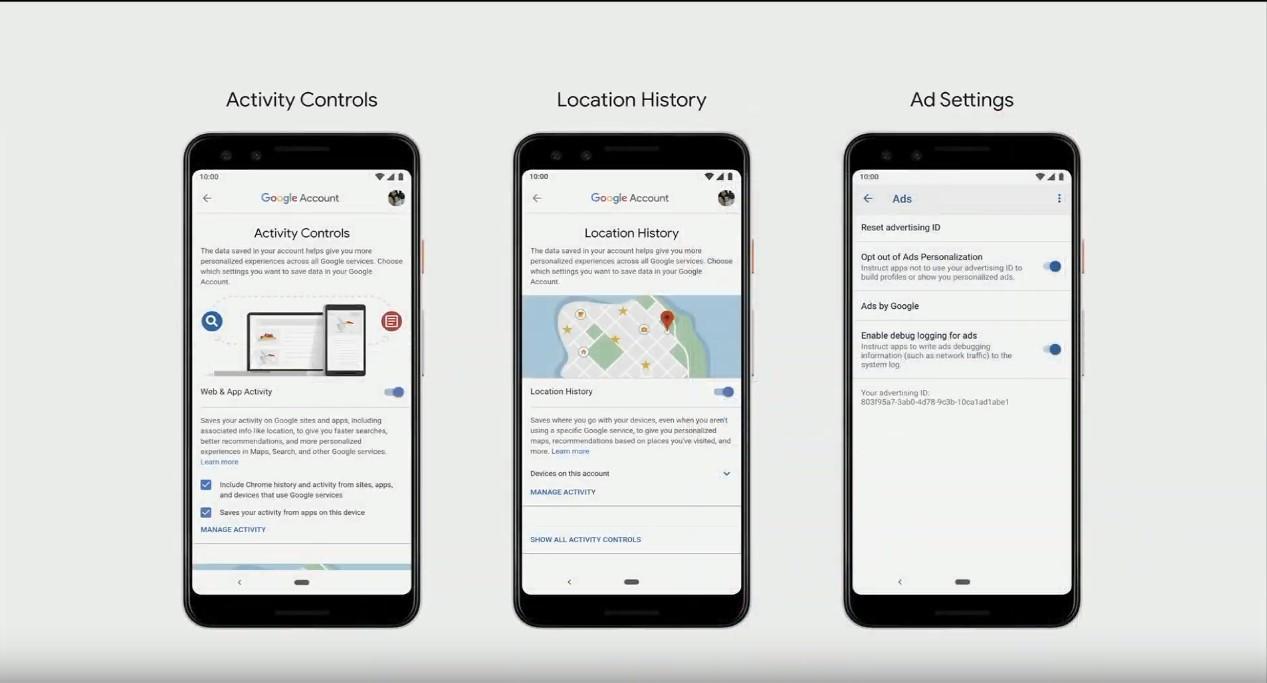 Google I / O privacy