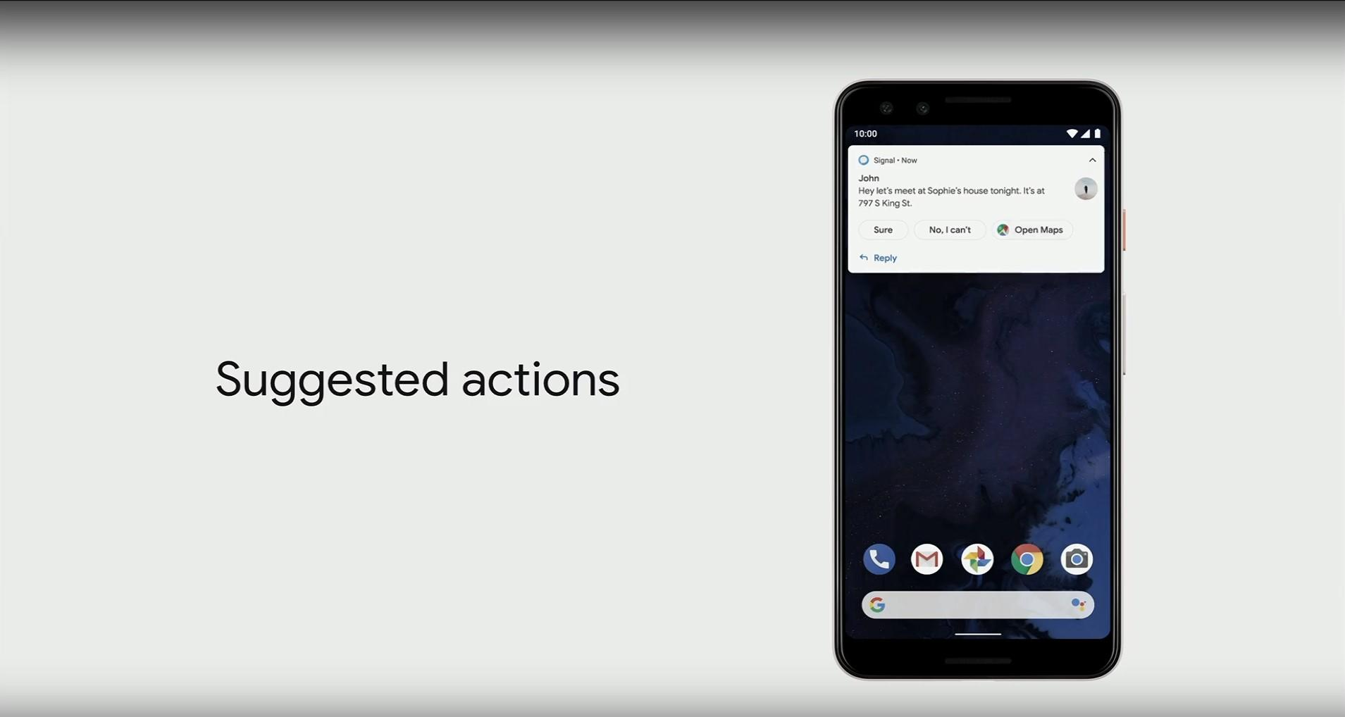 android q google io Smart Reply