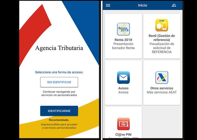 Screenshots of the Tax Agency