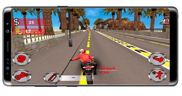 Push on Moto Rider Death Racer