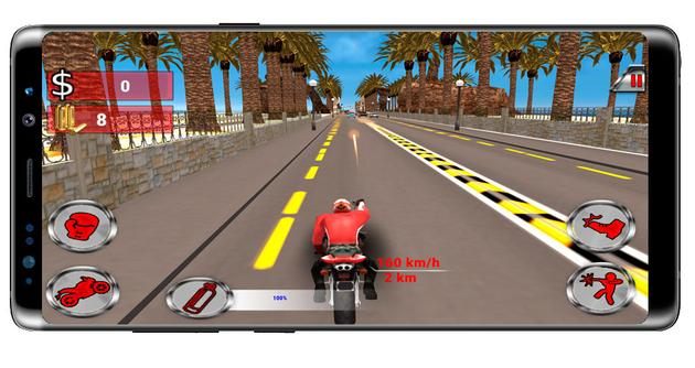Shoot a motorcycle in Moto Rider Death Racer