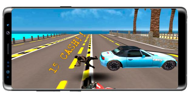 Crash in the game Moto Rider Death Racer