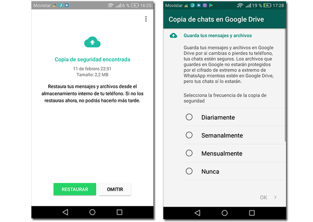 How to restore backups on WhatsApp