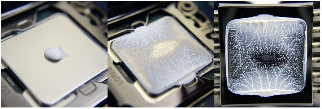 Bad thermal paste