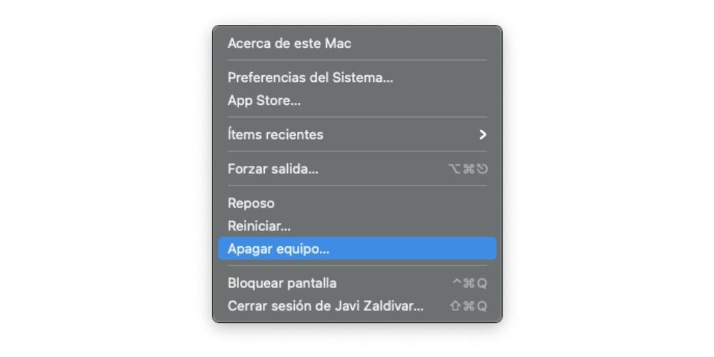 Turn off the Mac