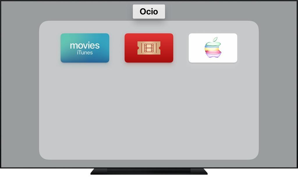 apple tv folders