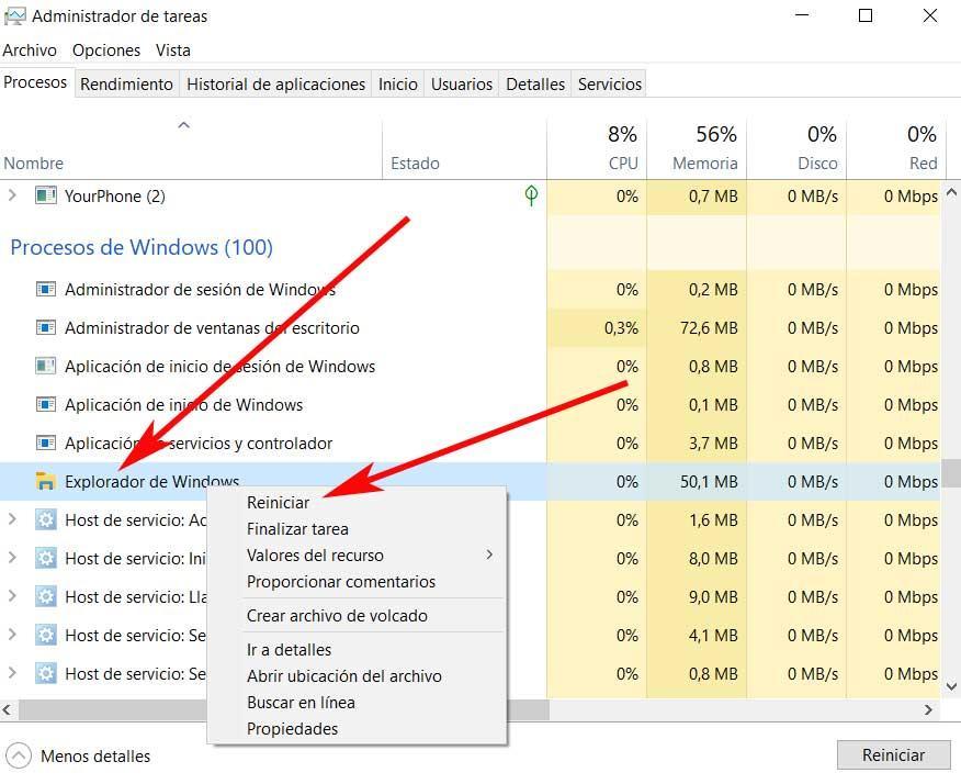 restart Explorer delete folder