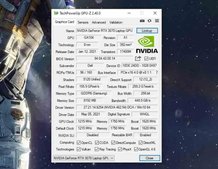 Alienware M15 3070