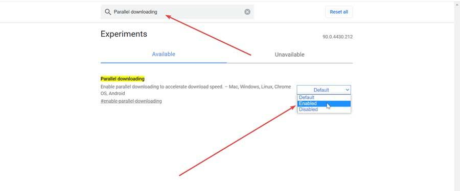 Enable parallel downloads in Chrome