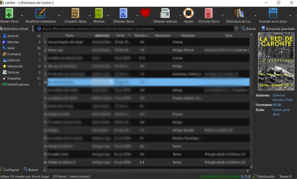 Caliber interface