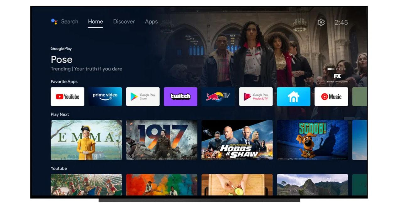 New update of the Android TV interface