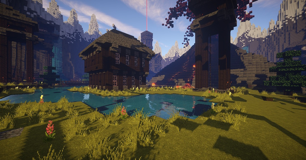 Image of an area created with Minecraft