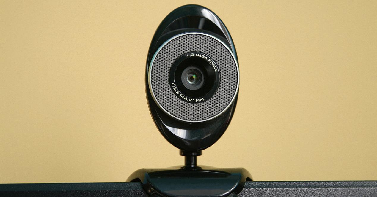 Wireless web cam on a computer screen