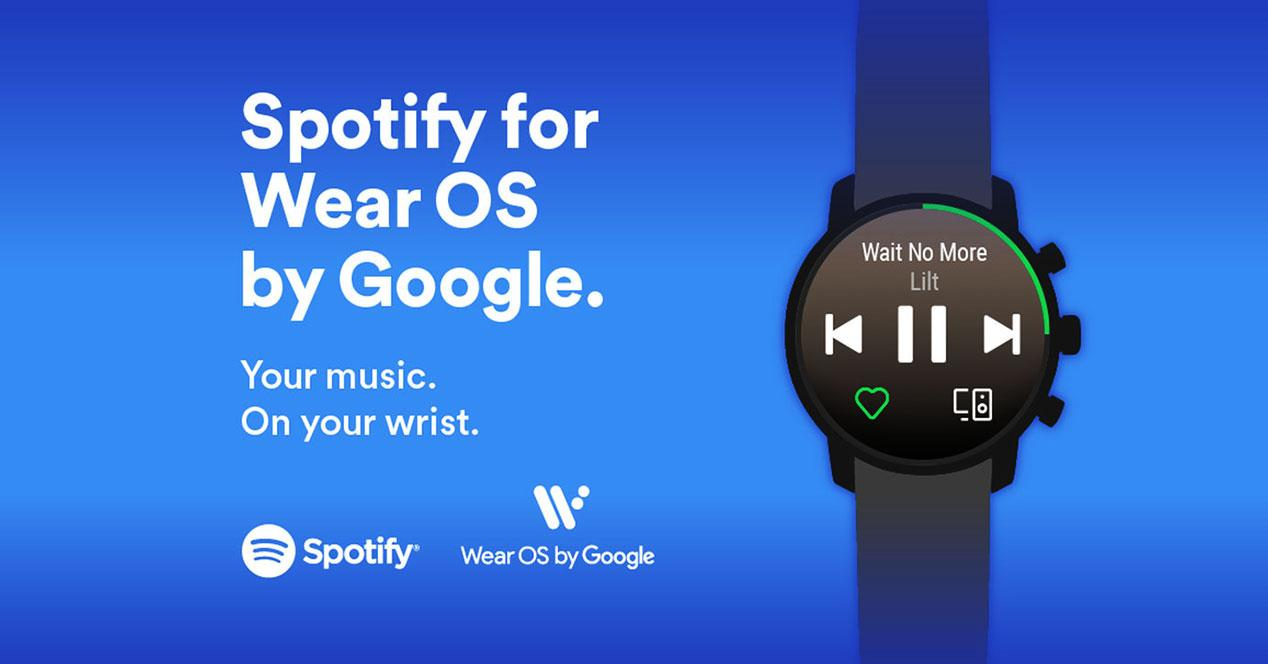 spotify available now for Wear OS