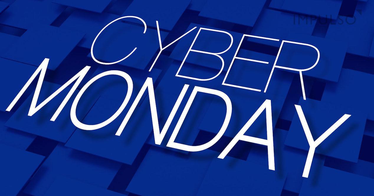 cyber monday blue background