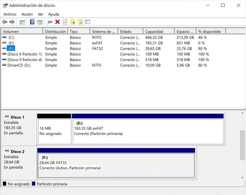 Windows 10 Disk Manager
