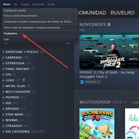 Steam - Enable disable streaming 1