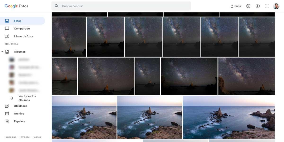 google photos screenshots