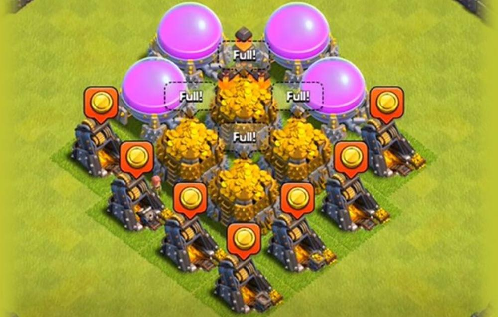clash of clans mines
