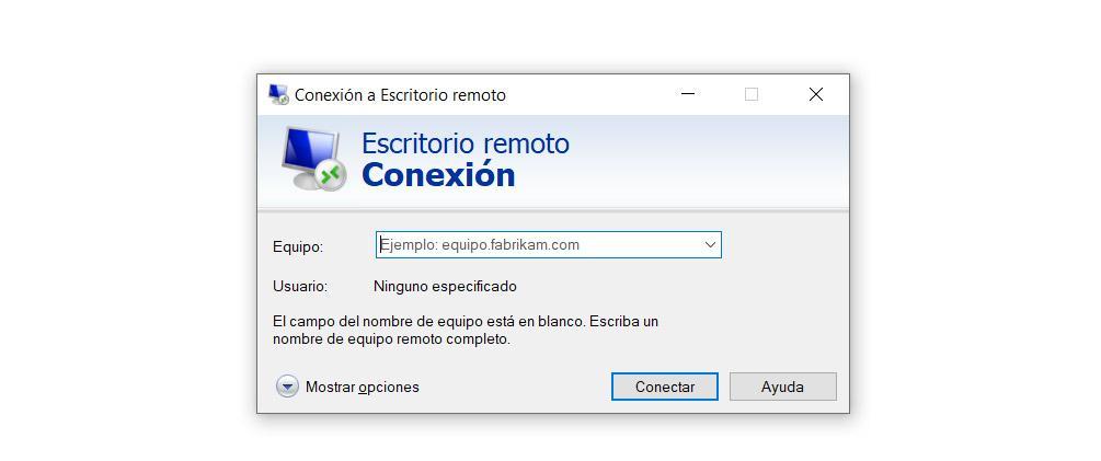 Remote desktop in Windows