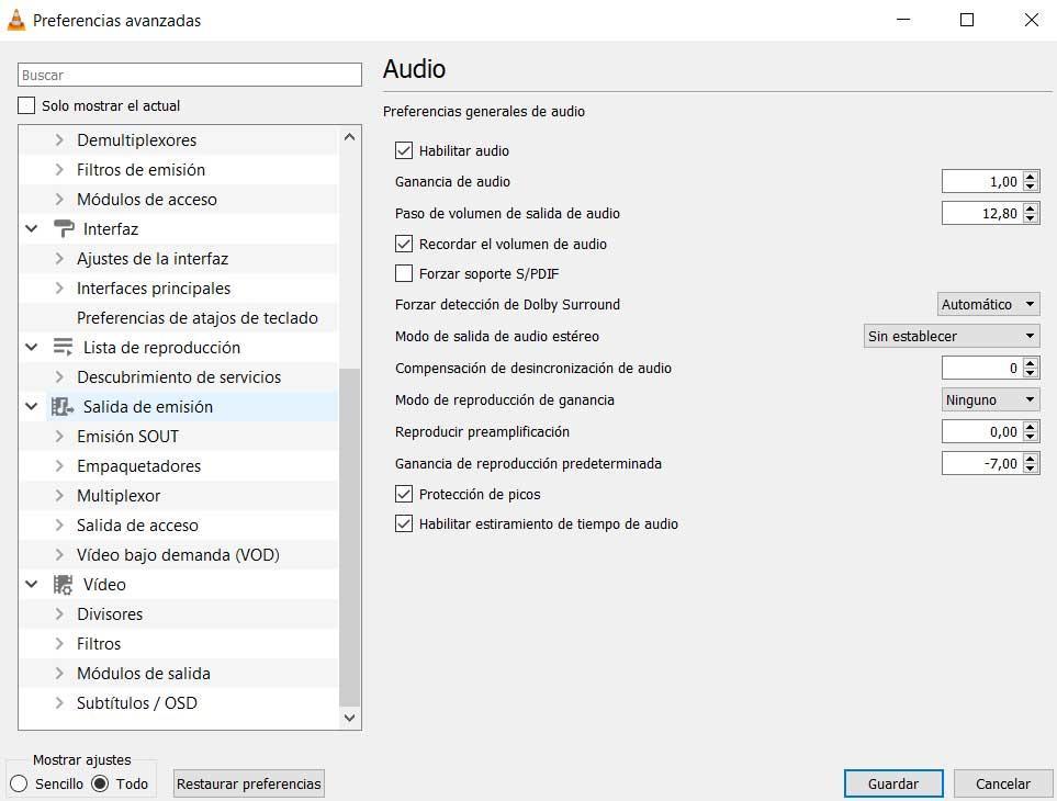 VLC parameters