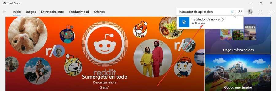 Find App Installer in Store