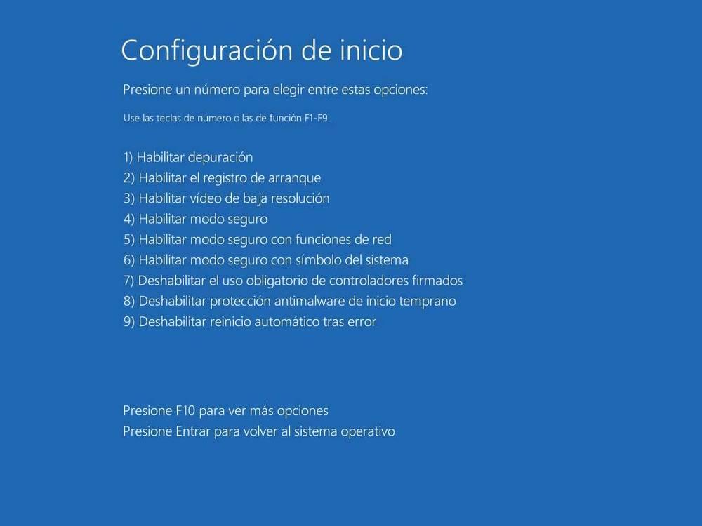 Windows advanced startup options