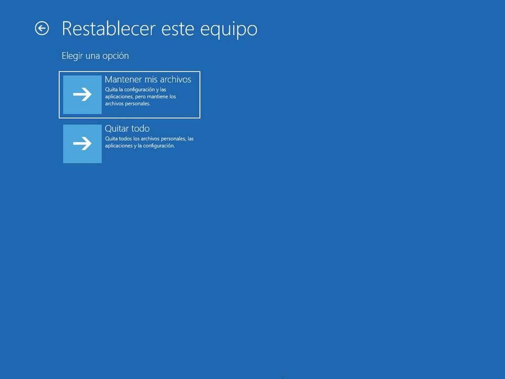 Reset device from W10