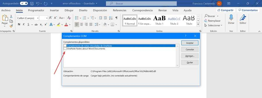 Disable Office Add-ins