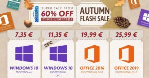 Buy Windows 10 now for € 7.35 in GoDeal24's fall…