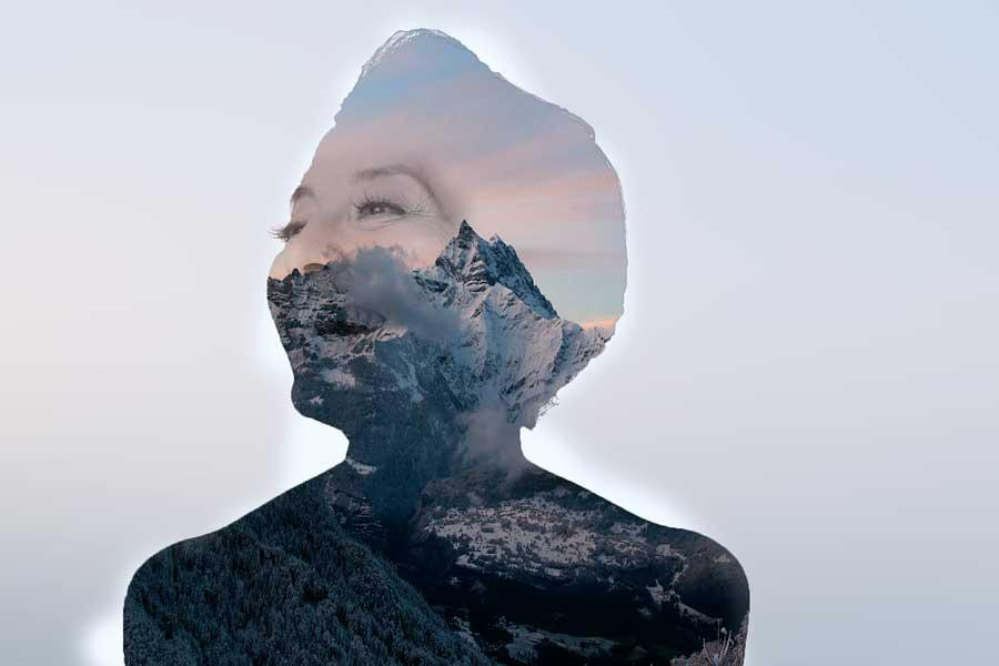 Image with double exposure effect