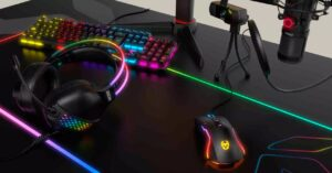 Krom takes headphones to another level with Klaim: RGB on…