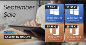 Offers in Windows 10 for 7 euros to upgrade to…