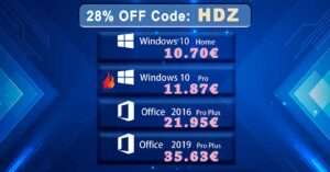 Your lifetime license of Windows 10 and Office, for 11…